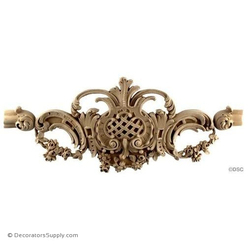 Wall Panel Design Rococo Fretted Center Ornament 8H X 16 1/4-ornate-french-Decorators Supply
