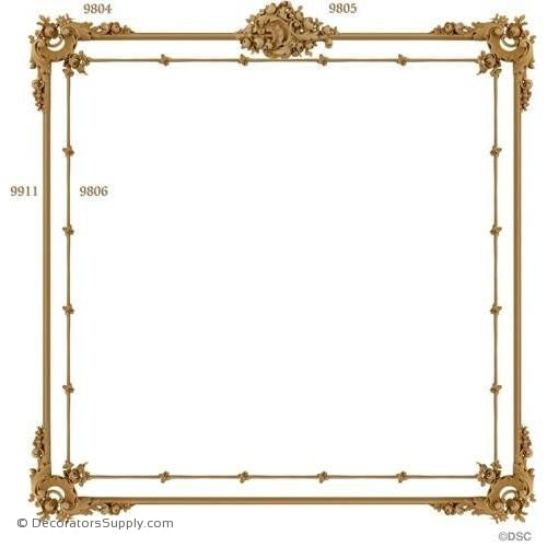 Wall Panel Design 1-9805 4-9804 12FT-9806 12FT-9911-ornate-french-Decorators Supply