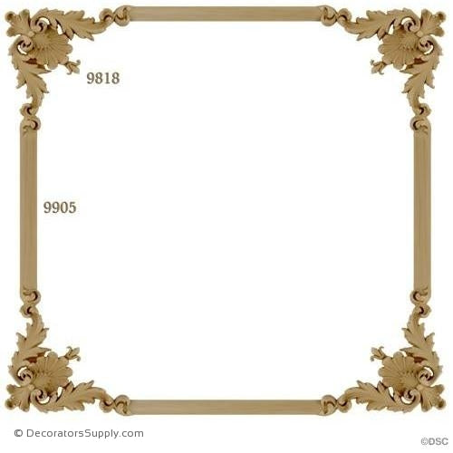 Wall Panel Design - 4-9818 12ft-9905-ornate-french-Decorators Supply