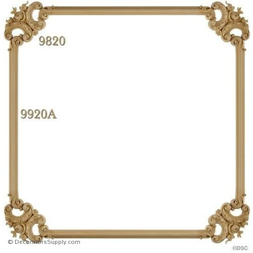Wall Panel Design - 4-9820 12ft-9920A-ornate-french-Decorators Supply