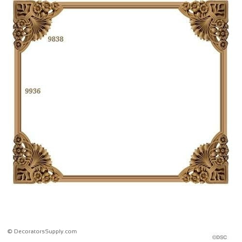 Wall Panel Design 4-9838 12ft-9936-ornate-french-Decorators Supply