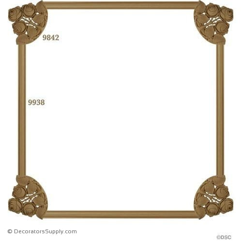 Wall Panel Design - 4-9842 12FT - 9938-ornate-french-Decorators Supply