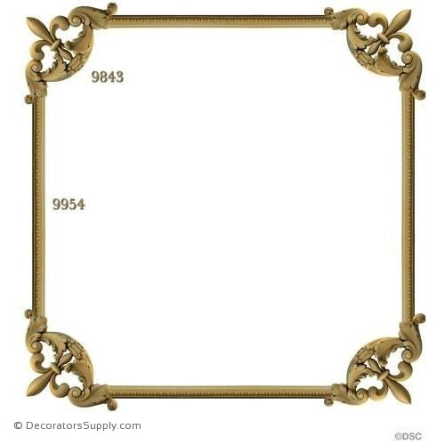 Wall Panel Design - 4-9843 12ft-9954-ornate-french-Decorators Supply