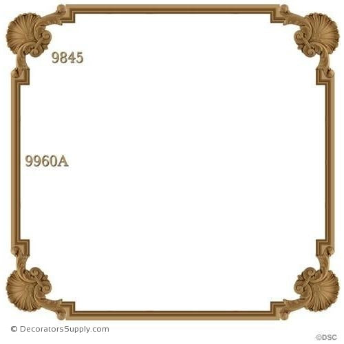 Wall Panel 4-9845 12ft-9960A Premitred 9845 Option P9845-ornate-french-Decorators Supply