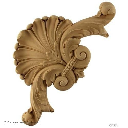 Wall Panel Design - Corner Ornament -13H X 13W - 1 1/2Relief-ornate-french-Decorators Supply