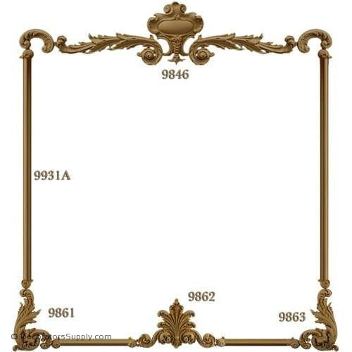 Wall Panel Design - 1 Each 9846-9861-9862-9863 12ft 9931A-ornate-french-Decorators Supply