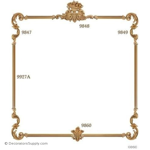Wall Panel 1-9848 2-9849 2-9847 1-9860 12ft-9927A-ornate-french-Decorators Supply