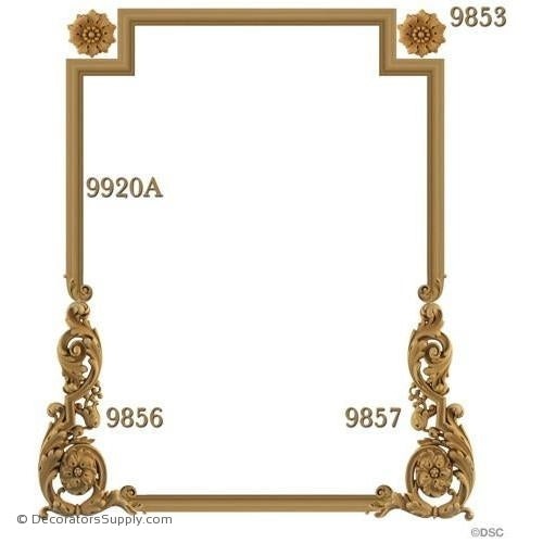 Wall Panel Design - 1- 9856 1-9857 2-9853 12FT - 9920A-ornate-french-Decorators Supply