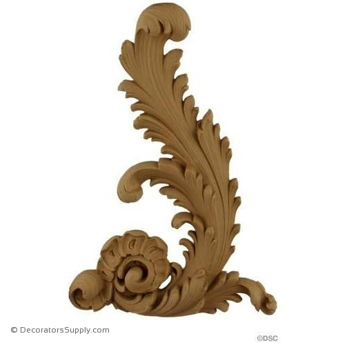Wall Panel Design - Right Corner Ornament - 10H X 7W-ornate-french-Decorators Supply