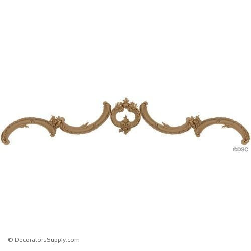 Wall Panel Design - Center Ornament - 11H X 54W-ornate-french-Decorators Supply