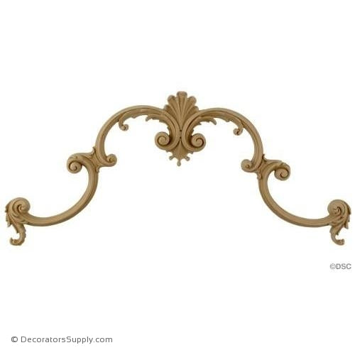 Wall Panel Design - Center Ornament - 6 1/2H X 16 1/2W-ornate-french-Decorators Supply