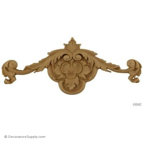 Wall Panel Design - Center Ornament - 5H X 12W-ornate-french-Decorators Supply