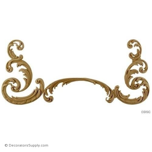 Wall Panel Design - Center Ornament - 7H X 16 1/2W-ornate-french-Decorators Supply