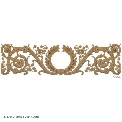 Wreath Design-French Ren. 12H X 42 1/4W - 5/16Relief-ornaments-for-woodwork-furniture-Decorators Supply