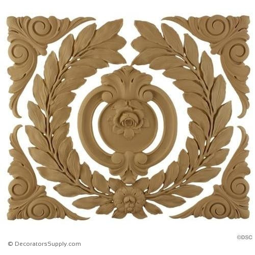 Wreath-French Ren. 11 3/4H X 13 1/2W - 3/8Relief-ornaments-for-woodwork-furniture-Decorators Supply