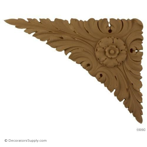 Spandrel Leaf Corner - French Ren. 8 3/4H X 11W - 3/8Relief-appliques-for-woodwork-furniture-Decorators Supply