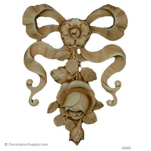 Rose Drop - French Ren. 6 1/2H X 4 7/8W - 3/8Relief-ornate-french-Decorators Supply
