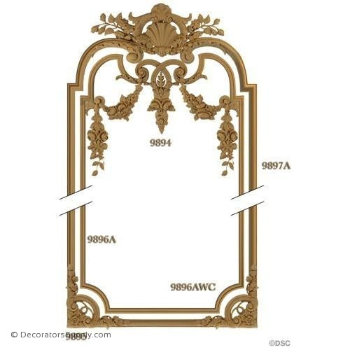 Wall Panel 1- 9894 2-9895 2-9896AWC 12ft 9897A 12ft 9896A-ornate-french-Decorators Supply