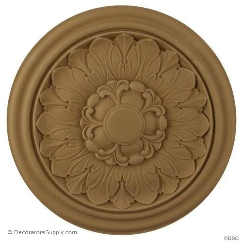 Rosette - Circle-French Ren. - 6 3/4Diameter - 5/8Relief-woodwork-furniture-ornaments-Decorators Supply