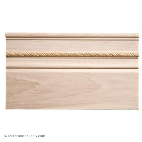 "Base Moulding - Embossed - 3/4"" x 7"" Wide"