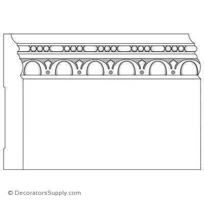 "Base Moulding - Embossed - 3/4"" x 5 1/2"" Wide"