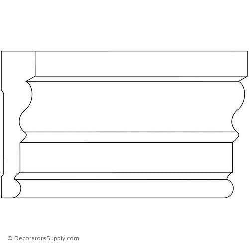 "Case Moulding - Smooth - 13/16"" x 3 1/2"" Wide"
