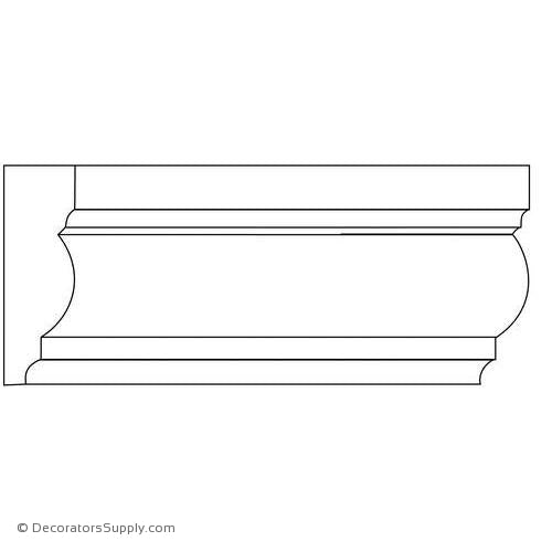 "Chairrail Moulding - Smooth - 13/16"" x 2 1/2"" Wide"