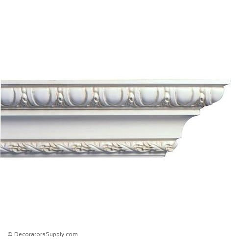 "Mon Reale®  Crown Moulding-Egg and Dart w/Leaf-4 3/4""P x 5 7/8""D"