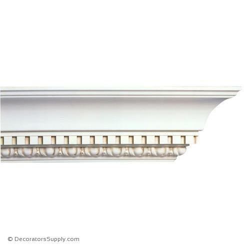 "Mon Reale® Crown Moulding-Egg & Dart w/Dentil-5""P x 5 5/8""D"