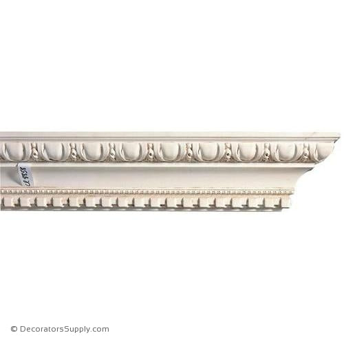 "Mon Reale® Crown Moulding-Egg & Dart w/Dentil-4 1/4""P x 5 7/8""D"