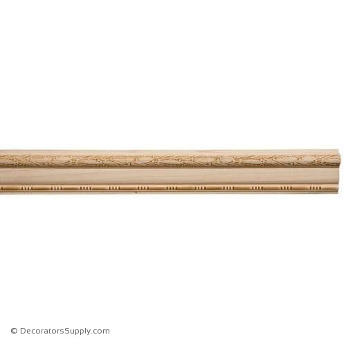 "Chairrail Moulding - Embossed - 1 1/16"" x 3"" Wide"