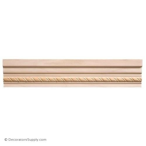 "Chairrail Moulding - Embossed - 1 3/4"" x 2 1/2"" Wide"