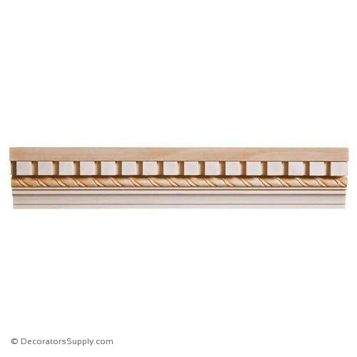 "Chairrail Moulding - Embossed - 1 1/16"" x 2 1/4"" Wide"