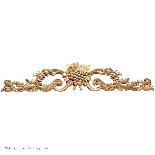 Grape Cluster with Scrolls Wood Applique - (Cherry, Maple & Lindenwood)