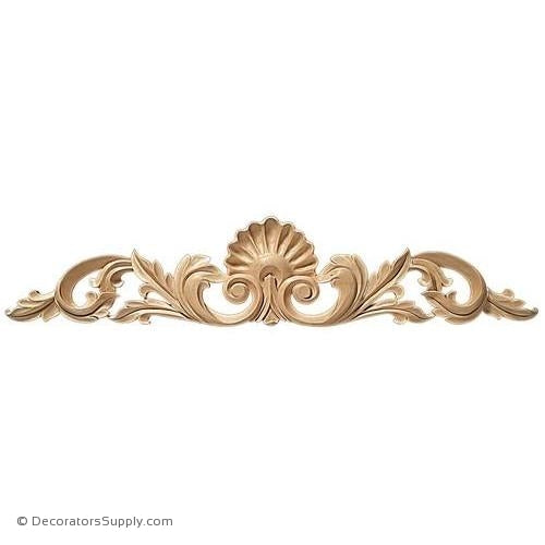 Shell Center with Scrolls Wood Applique - (Lindenwood)