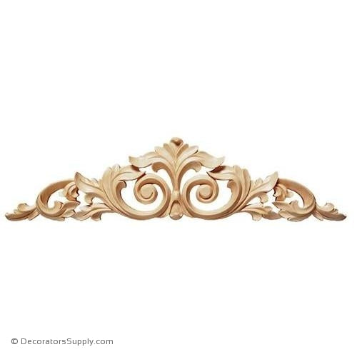 Acanthus Center with Scrolls Wood Applique - (Cherry, Maple & Lindenwood)