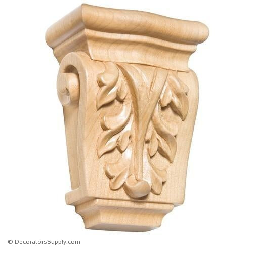 Acanthus Petite Wood Corbel - (Cherry, Maple & Lindenwood)