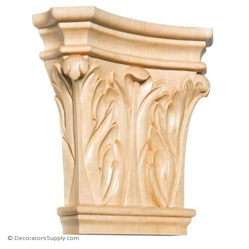 Corinthian Style Wood Capital - (Cherry, Maple & Lindenwood)