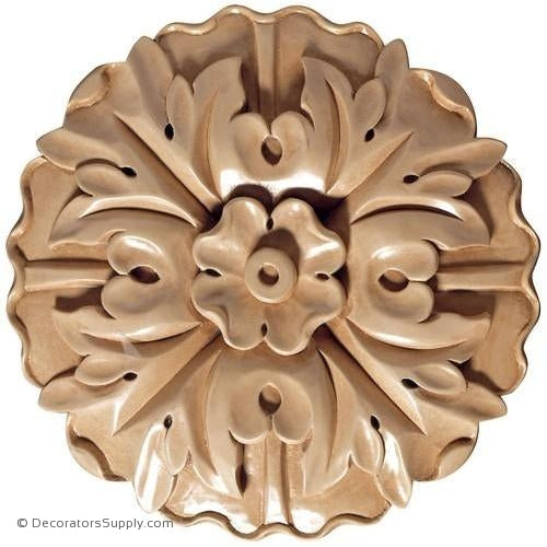 Circle Wood Rosette [2 PCS] - (Cherry, Maple & Lindenwood)