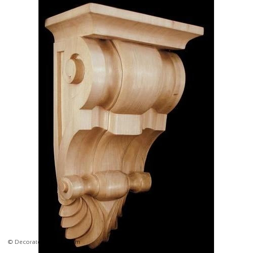 Fluted Wood Corbel - (Lindenwood) - 3 SIZES
