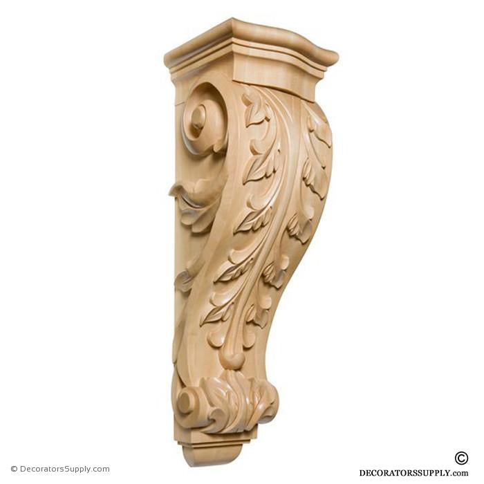 Acanthus Wood Corbel - (Cherry, Maple & Lindenwood) - 7 SIZES