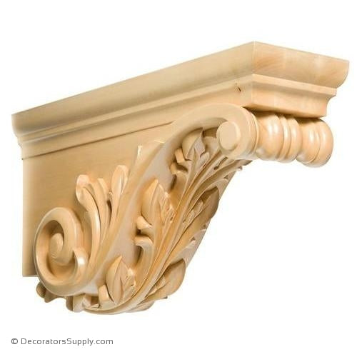 Acanthus Horizontal Wood Corbel - (Cherry & Maple)