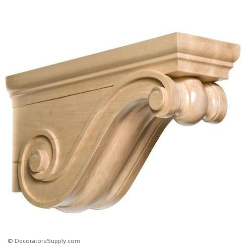Rangehood Wood Corbel - (Cherry & Maple)