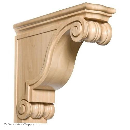Classic Rangehood Wood Corbel - (Cherry & Maple)