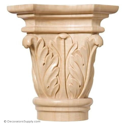 Acanthus Style Wood Capital - (Cherry & Maple)