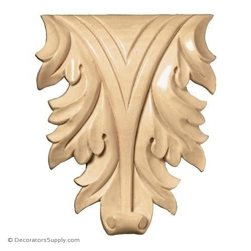 Acanthus Leaf Wood [2 PCS] - (Cherry & Maple)
