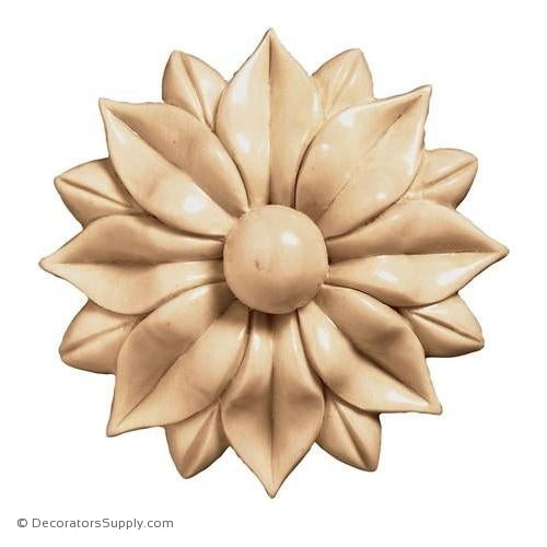 Flower Wood Rosette [2 PCS] - (Cherry & Maple)