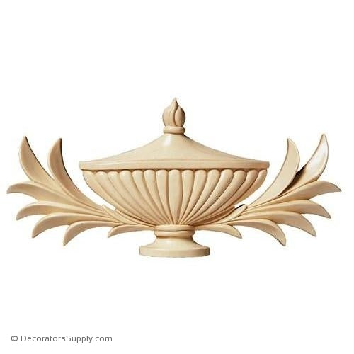Papyrus Leaves & Urn Wood Applique - (Cherry & Maple)