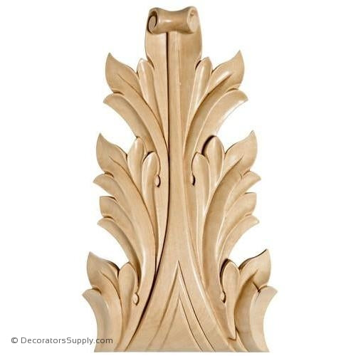 Acanthus Leaf Wood - (Cherry & Maple)