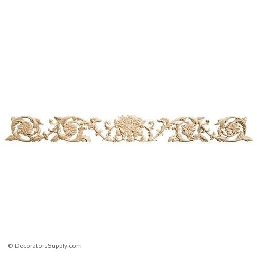 Rinceau Scrolls with Floral Basket Wood Applique - (Cherry & Maple)